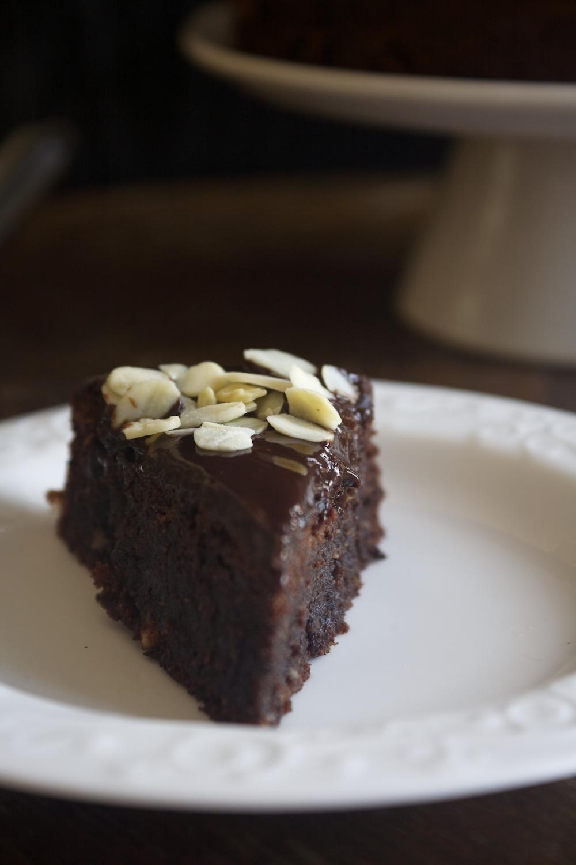 עוגת שוקולד שקדים ודבש ללא קמח
