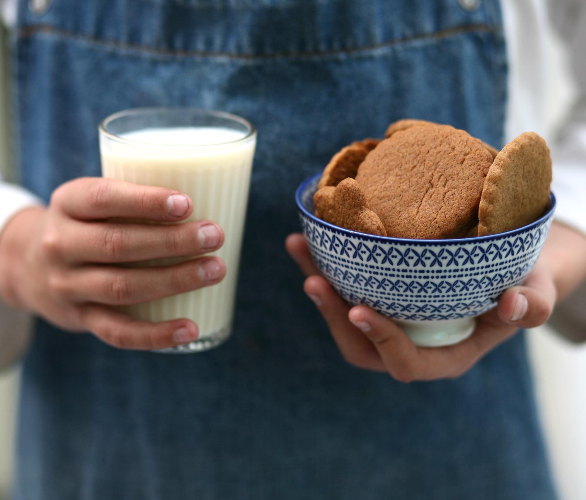 עוגיות ג׳ינג׳ר וקינמון בקערה