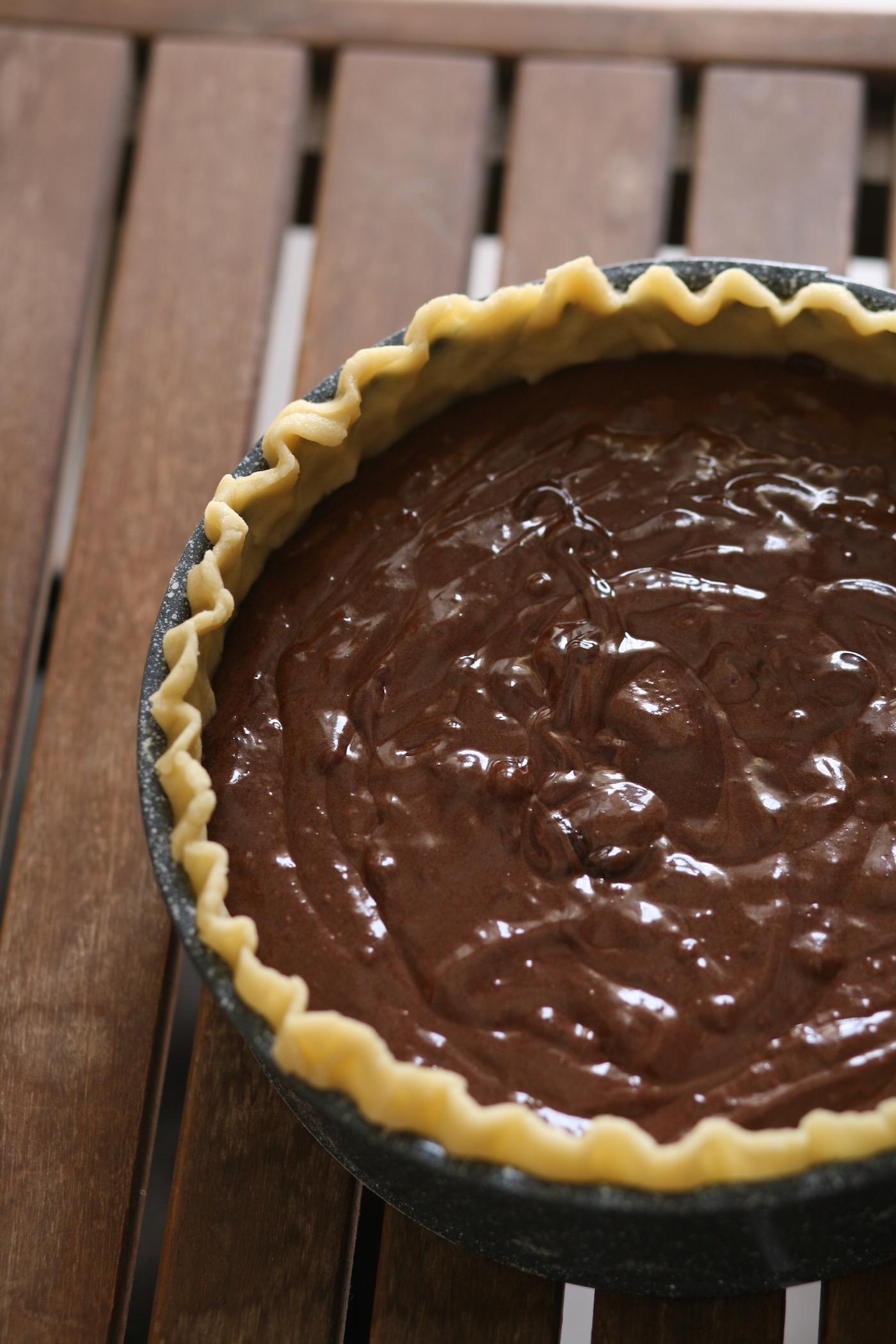 עוגת פאי שוקולד