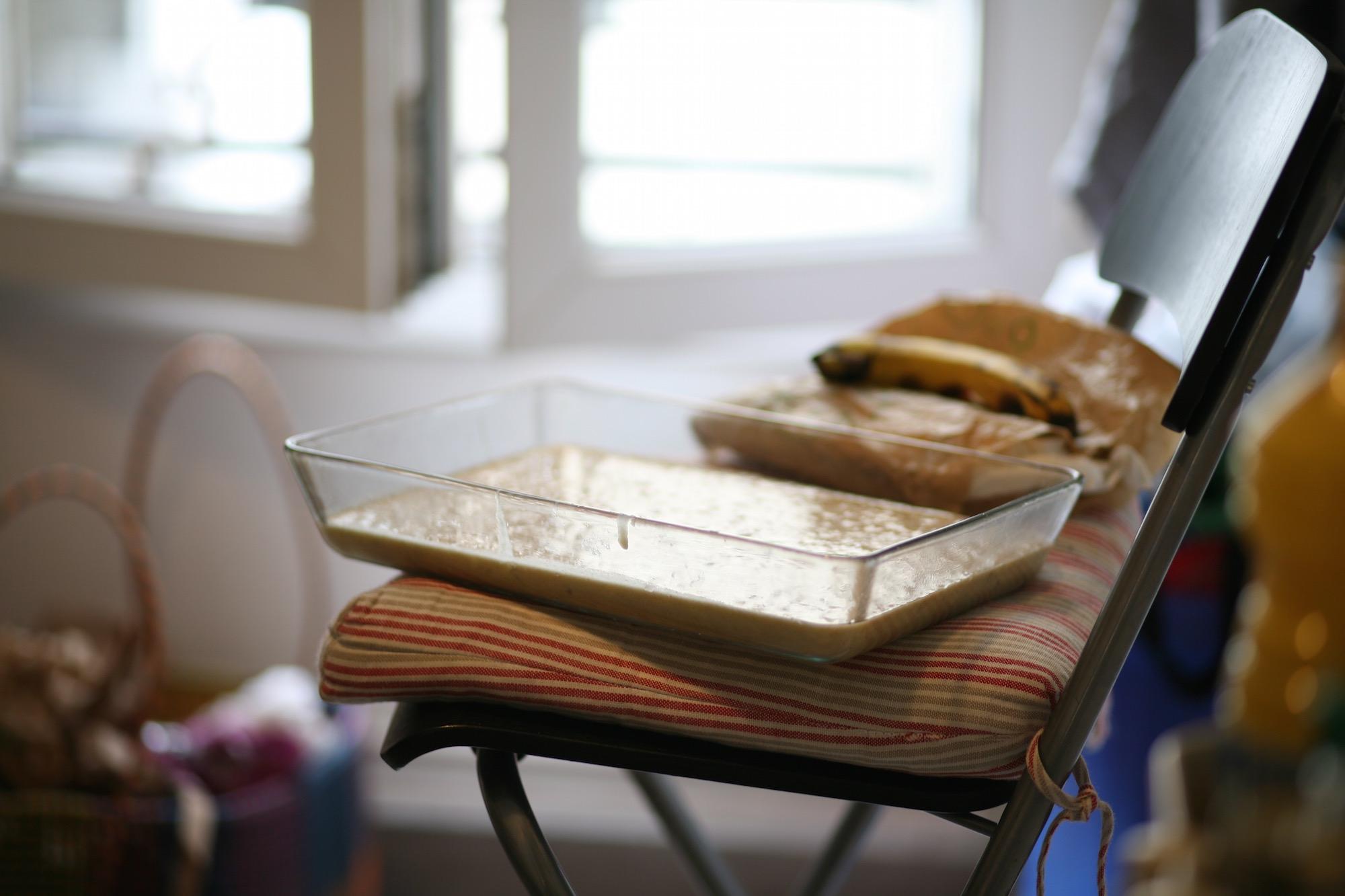 בלילת עוגת בננות בתבנית פיירקס