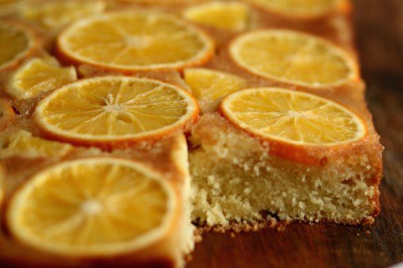 עוגת תפוז ריקוטה הפוכה